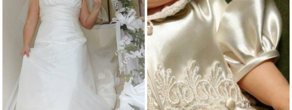 wedding dress to christening gown