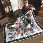 Paul with tshirt memory quilt